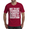 Alcohol_Is_A_Solution-Funny_T_Shirt_Geek_Science_Alcohol_Shirt_Party_Beer_Tee1 Mens T-Shirt