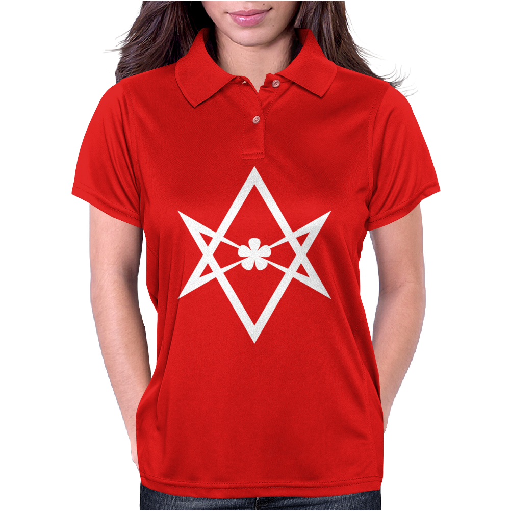 Aleister Crowley Unicursal Hexagram Womens Polo