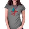 ALICE IN WONDERLAND - ASK ALICE - THE SMOKING CATERPILLAR - PSYCHEDELIC CATERPILLAR Womens Fitted T-Shirt