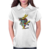 ALICE IN WONDERLAND - ASK ALICE - THE WHITE RABBIT - PSYCHEDELIC WHITE RABBIT Womens Polo