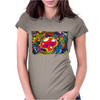 ALICE IN WONDERLAND - MUSHROOM POWER - ASK ALICE - PSYCHEDELIC MUSHROOM Womens Fitted T-Shirt