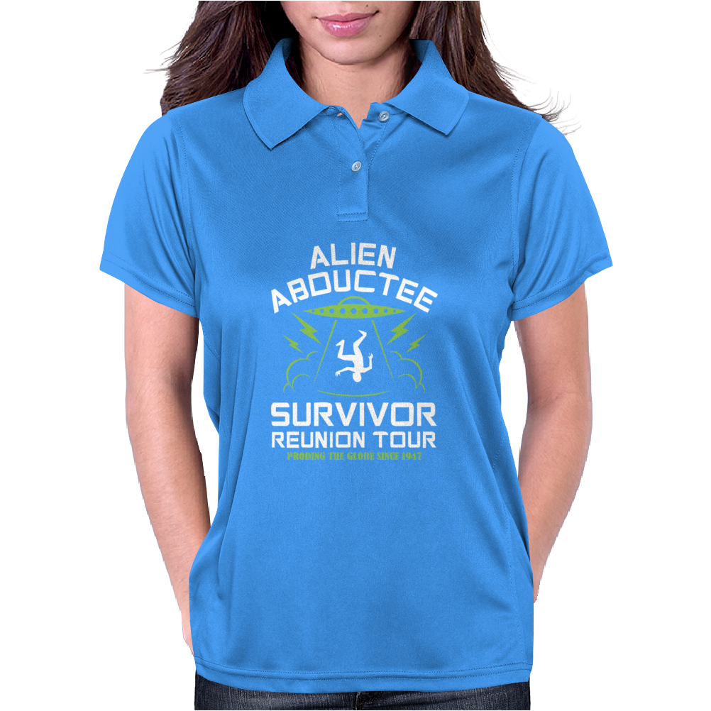 Alien Abductee Survivor Tour UFO Nerd Geek Comic Funny Womens Polo