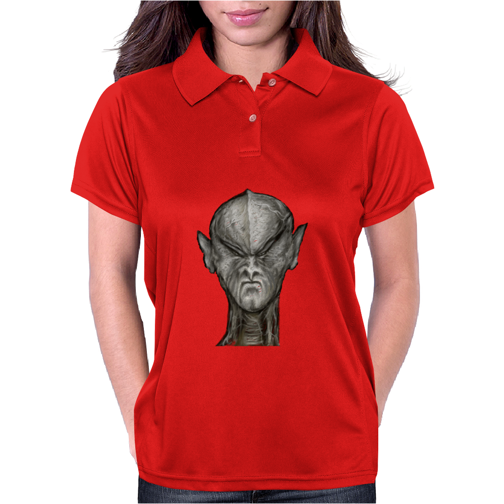 Alien Creature TS Womens Polo
