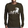 Alien Evolution - Mens Funny Mens Long Sleeve T-Shirt