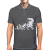 Alien Evolution - Mens Funny Mens Polo