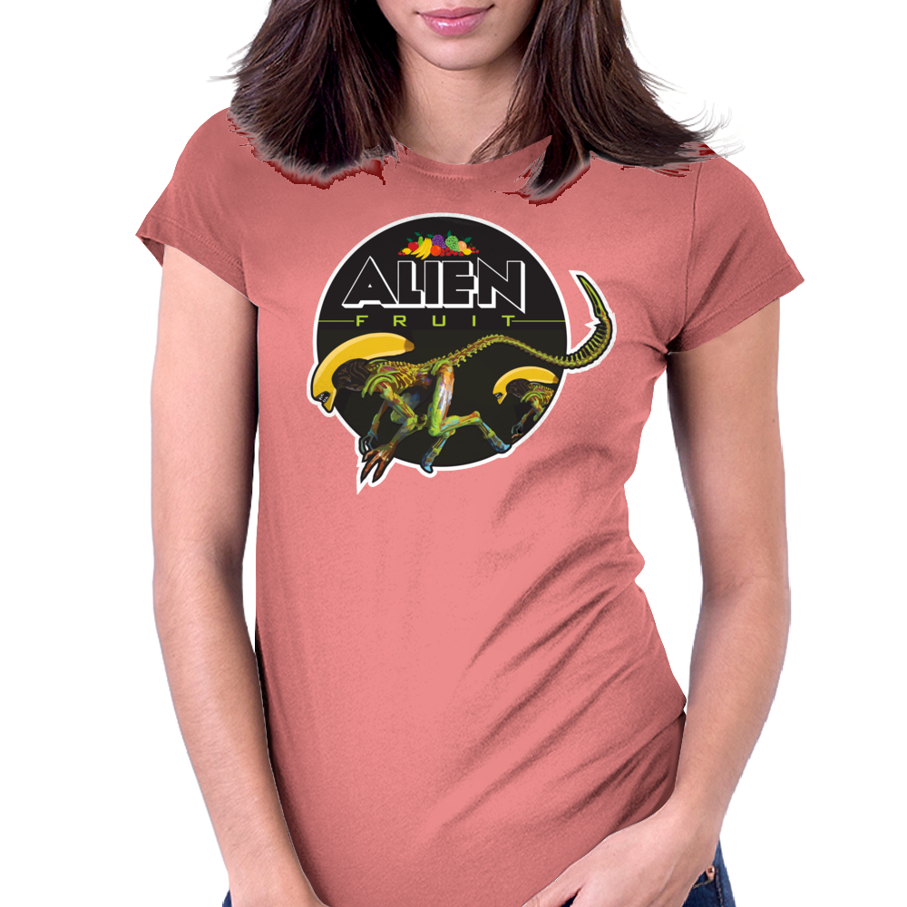 Alien Fruit Womens Fitted T-Shirt