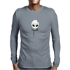 Alien Skull Mens Long Sleeve T-Shirt