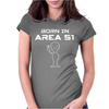ALIEN THEMED - UFO Womens Fitted T-Shirt