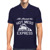 All Aboard Hot Mess Express Train Mens Polo