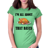 ALL ABOUT THAT BASTE Womens Fitted T-Shirt