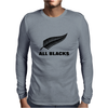 All black rugby Mens Long Sleeve T-Shirt