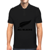 All black rugby Mens Polo