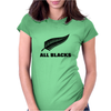 All black rugby Womens Fitted T-Shirt