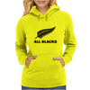 All black rugby Womens Hoodie