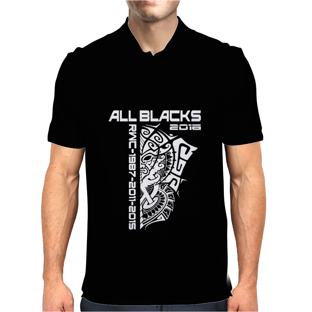 All Blacks Nz Rugby World Championship 2016 Mens Polo