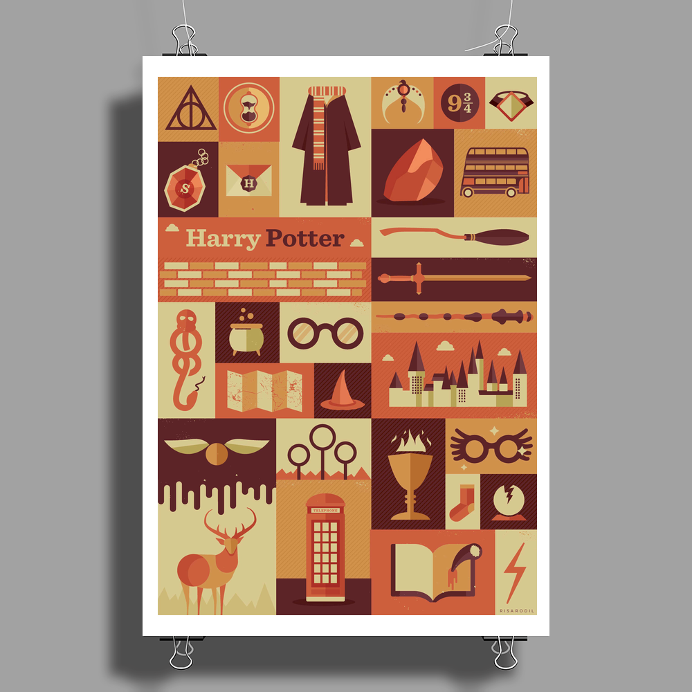 All character Harry potter Poster Print (Portrait)