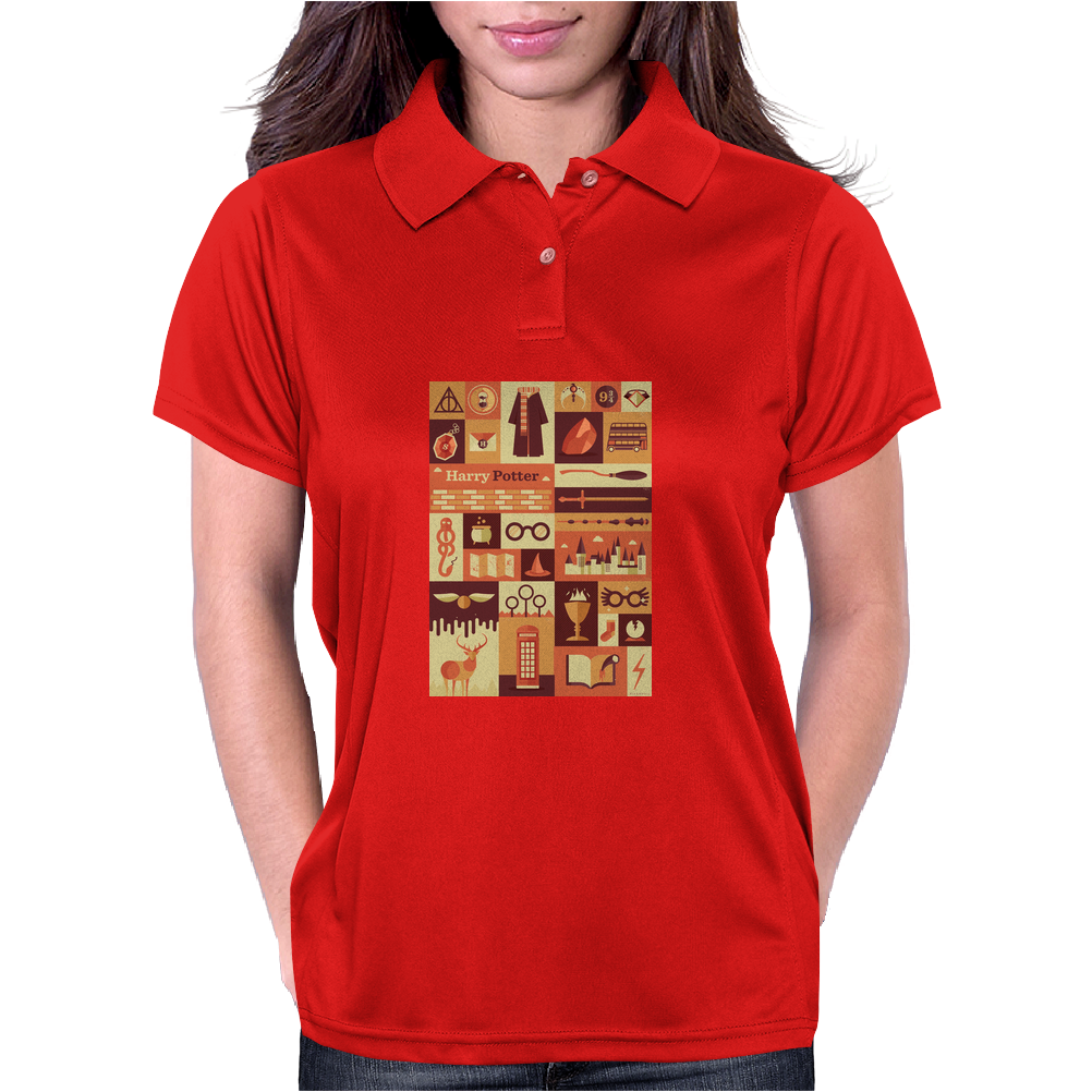 All character Harry potter Womens Polo