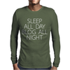 ALL DAY BLOG ALL NIGHT Mens Long Sleeve T-Shirt