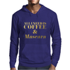 All I Need is Coffee and Mascara Faux Gold Foil Mens Hoodie