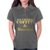 All I Need is Coffee and Mascara Faux Gold Foil Womens Polo