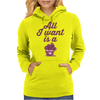 All I Want Is A Cupcake Womens Hoodie
