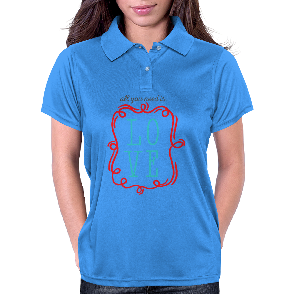 All You Need Is Love Womens Polo