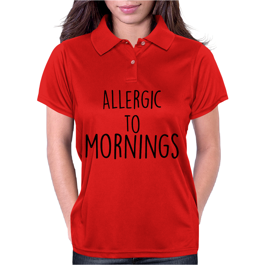Allergic to mornings Womens Polo