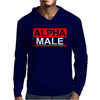 Alpha Male Manly Man Leader Elite Mens Hoodie