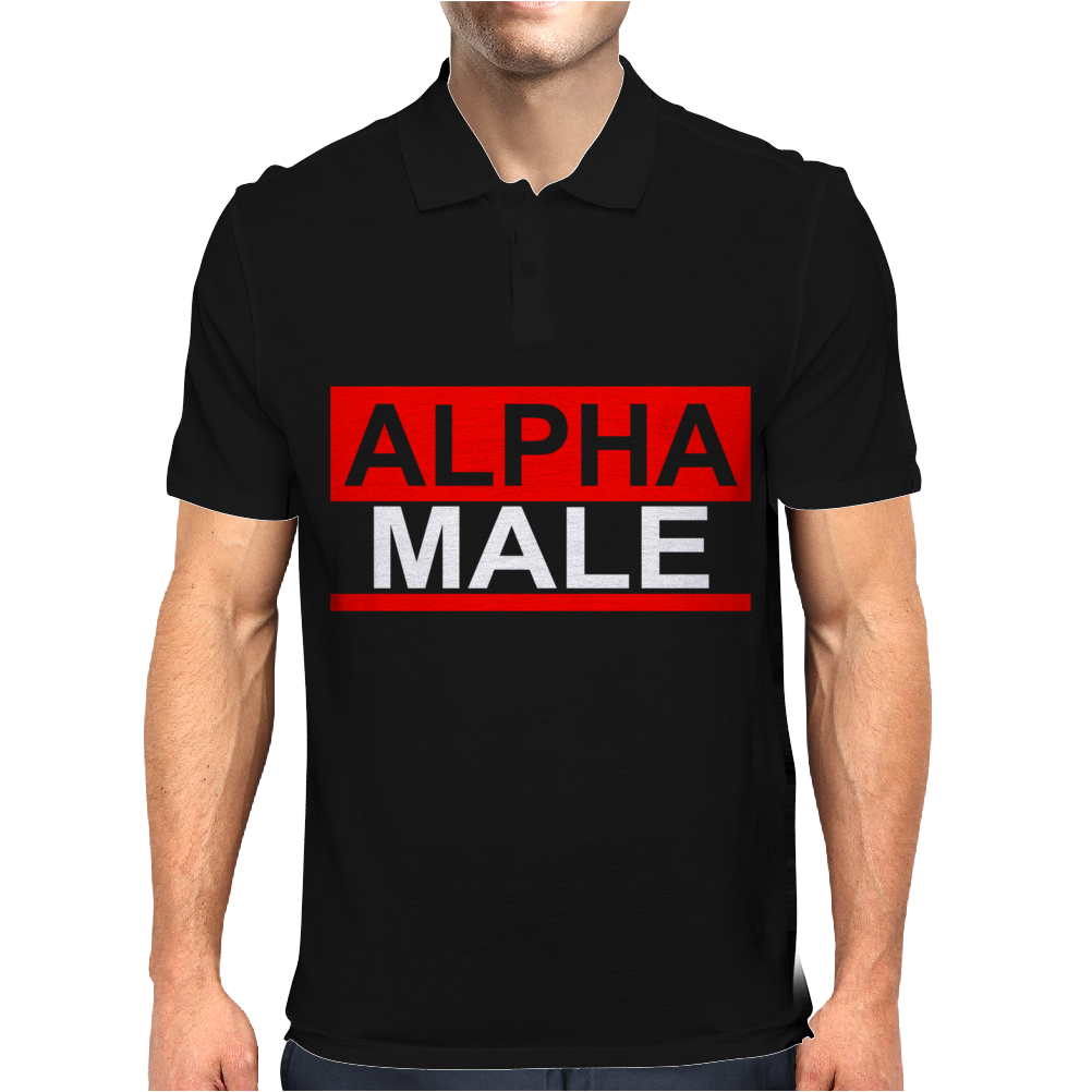 Alpha Male Manly Man Leader Elite Mens Polo