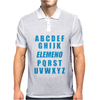 Alphabet ABC Elemno Mens Polo