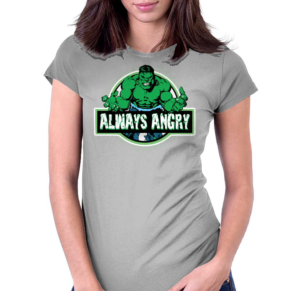 Always Angry Womens Fitted T-Shirt