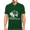 Always Late Worth Wait Funny Turtle Tee Mens Polo