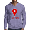 Am Here Internet Google Maps Mens Hoodie