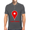 Am Here Internet Google Maps Mens Polo