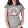 Amateur Ham Radio Callsign Antenna Womens Fitted T-Shirt