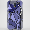 Amazing Blue Elephant with Raised Trunk Abstract Art Phone Case