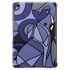 Amazing Blue Elephant with Raised Trunk Abstract Art Tablet (vertical)