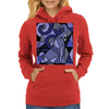 Amazing Blue Elephant with Raised Trunk Abstract Art Womens Hoodie