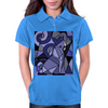 Amazing Blue Elephant with Raised Trunk Abstract Art Womens Polo