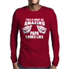 Amazing Papa Mens Long Sleeve T-Shirt