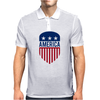America 4th July USA Shield Mens Polo