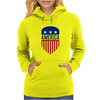 America 4th July USA Shield Womens Hoodie