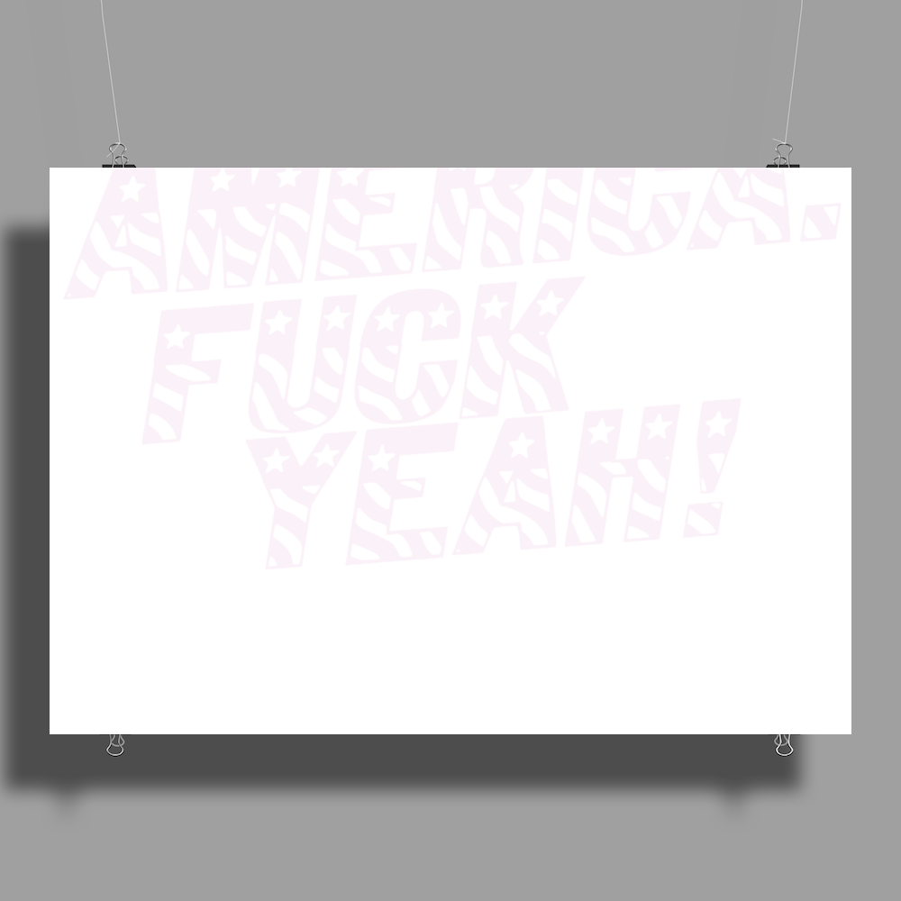 America F..k Yeah Poster Print (Landscape)