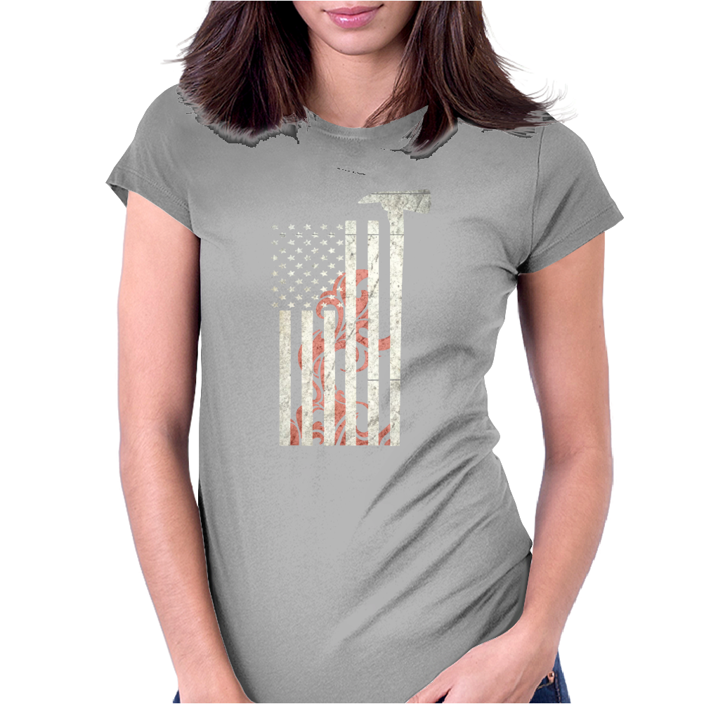 American Firefighter - Funny Womens Fitted T-Shirt