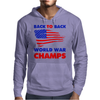American Flag Back To Back Mens Hoodie