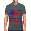 American Flag Back To Back Mens Polo