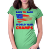 American Flag Back To Back Womens Fitted T-Shirt