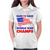 American Flag Back To Back Womens Polo