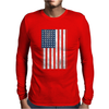 American Flag Black Mens Long Sleeve T-Shirt