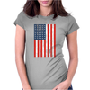 American Flag Black Womens Fitted T-Shirt